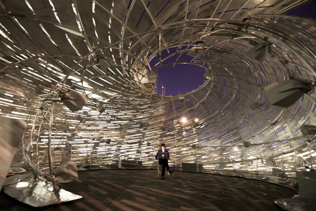 PHOTO-14_Orbit-Pavilion_interior-fine-tuning-the-speakers_photo-by-NASA-JPL-1024x683